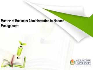 MBA in Finance Management