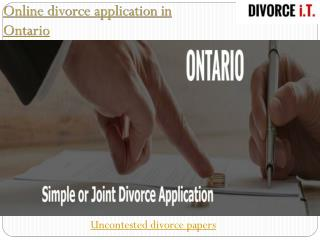 Affidavit for Divorce in Canada