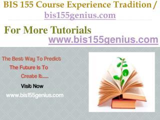 BIS 155  Slingshot Academy / bis155genius.com