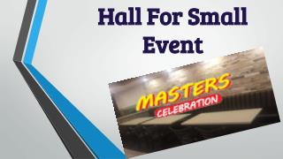 Small Party Hall Brampton