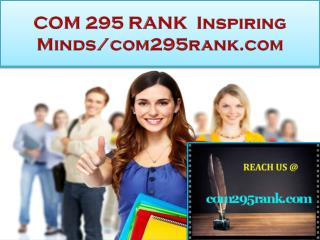 COM 295 RANK Real Success / com295rank.com