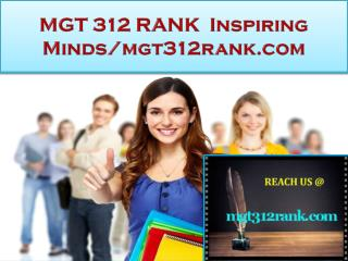 MGT 312 RANK Real Success / mgt312rank.com