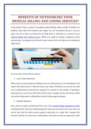 Benefits of Outsourcing your Medical Billing and Coding Services?