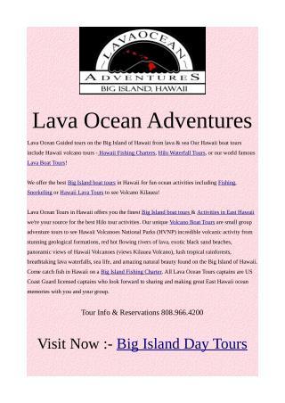 Lava Ocean Tours in Hawaii