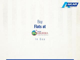 Buy Flats at Akar Suburbia in Goa