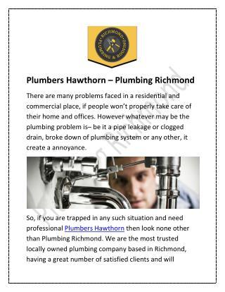 Plumbers Hawthorn