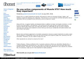 How you can use of The Muscle XTX Testosterone Booster?