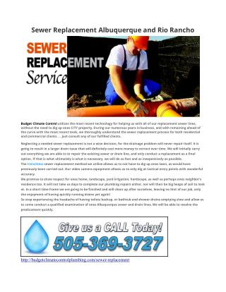 Sewer Replacement Albuquerque