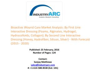 Bioactive Wound Care Market Products turning affordable and effective- strong propellant generating heavy revenue