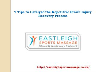 7 Tips to Catalyse the Repetitive Strain Injury Recovery Process