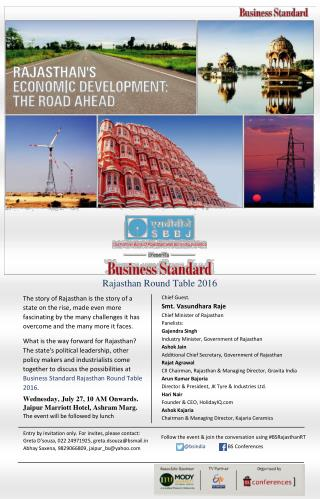 Business Standard Round Table Conference 2016