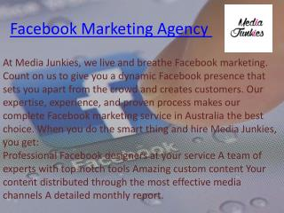 Facebook marketing company services