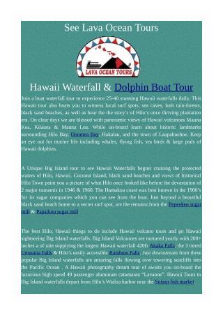 Hawaii Waterfalls - Big Island Tours