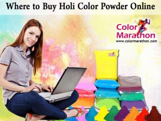 Where to Buy Holi Color Powder Online
