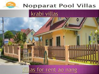 Poolvillas krabi ao nang