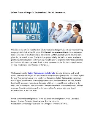 Small Business Health Plans