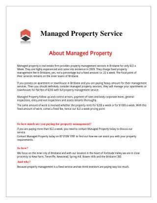 Real Estate Managed Property