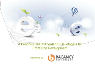 A Precious UI UX AngularJS Developers for Front End Development