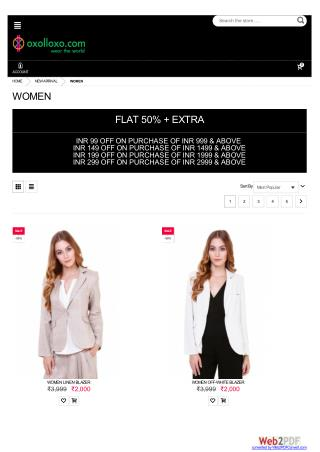 Trendy clothes for women - Flat 50% Off