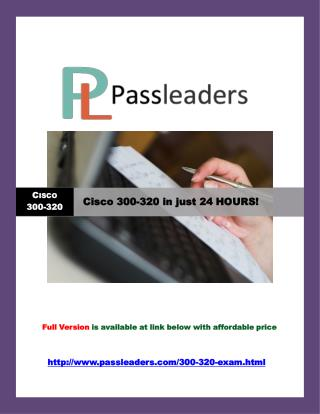 Passleader 300-320 Study Guide
