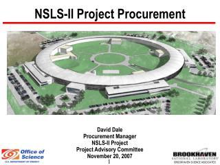 NSLS-II Project Procurement