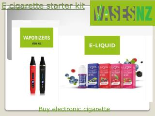 E cigarette starter kit