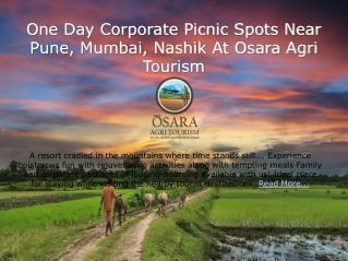 One Day Corporate Picnic Spots Near Pune, Mumbai, Nashik