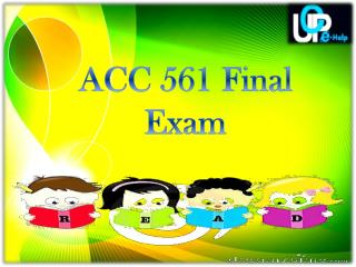 UOP ACC 561 Final Exam Question and Answer | Accounting 561 Final Exam Answer | Uopehelp.com
