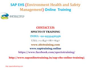 SAP EHS online training | SAP EHS fastrack online training classes in usa,uk,canada