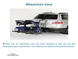 Wheelchair Vans
