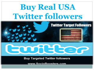 Buy Real USA Twitter followers
