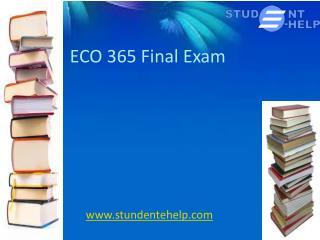 ECO 365 Final Exam - Student E Help