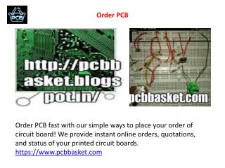 Order PCB