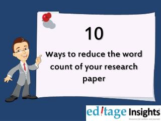 10 Ways reduce the word count of your research paper