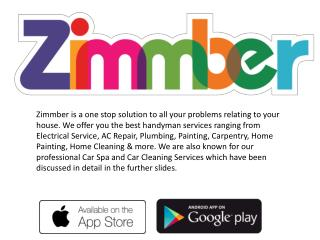 Beautician at home service with Zimmber Champ