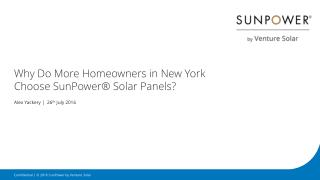 Why Do More Homeowners in New York Choose SunPower® Solar Panels?
