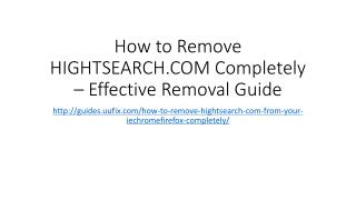 How to Remove HIGHTSEARCH.COM Completely – Effective Removal Guide