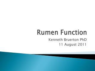 Rumen Function
