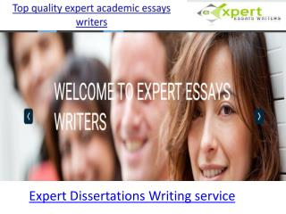Expert Dissertations Writing service
