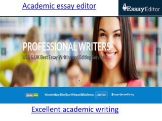 Excellent academic writing