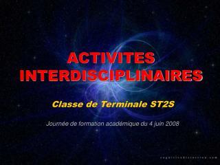 ACTIVITES INTERDISCIPLINAIRES