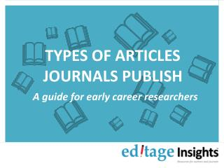 What types of articles do journals publish?