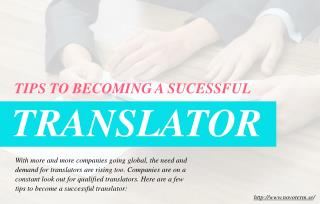 How you can find success as a translator