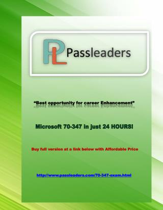 Passleader 70-347 Study Guide