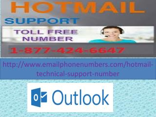 Hotmail Technical Support Number 1-877-424-6647