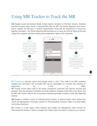 Using MR Tracker to Track the MR