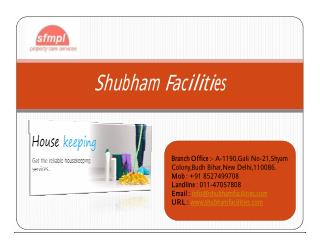 Housekeeping Services Pitampura In Delhi