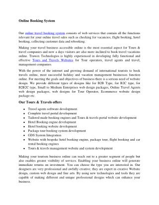 Online Booking System | Online Reservation System
