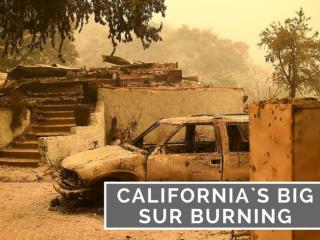 California`s Big Sur burning