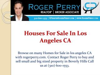 Houses For Sale In Los Angeles CA